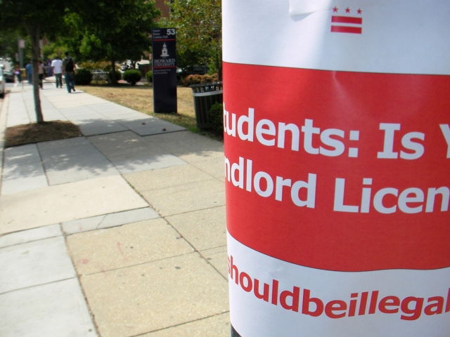 Fliers placed around Campus