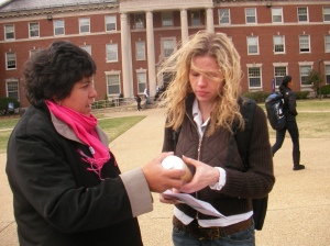 DCRA rep at Howard University, October 2008
