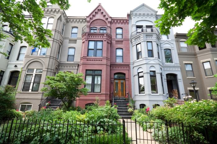 Italianate Style Row Homes Houses Washington DC USA